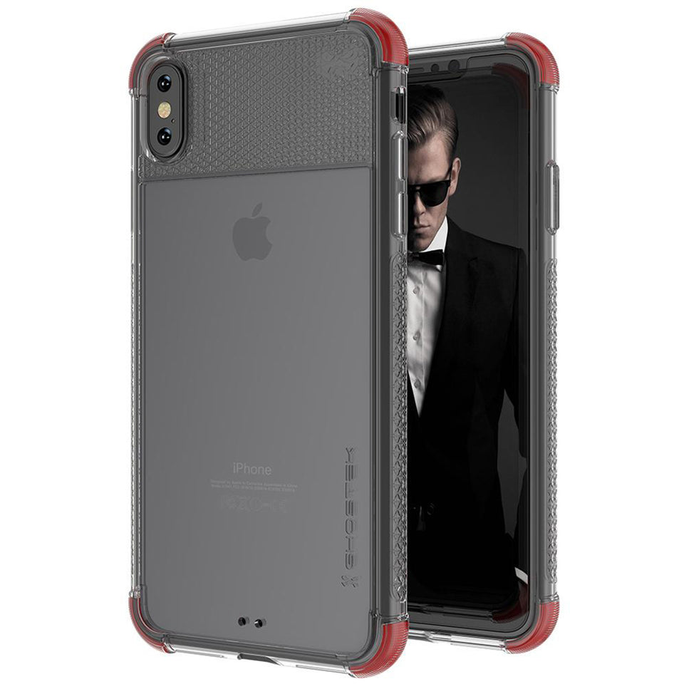 iPhone XS Max Red Clear Phone Case