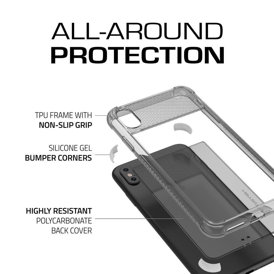 iPhone XS Max White Clear Phone Case