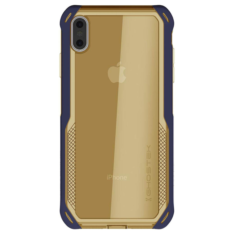 iPhone XS Max Blue Gold Case