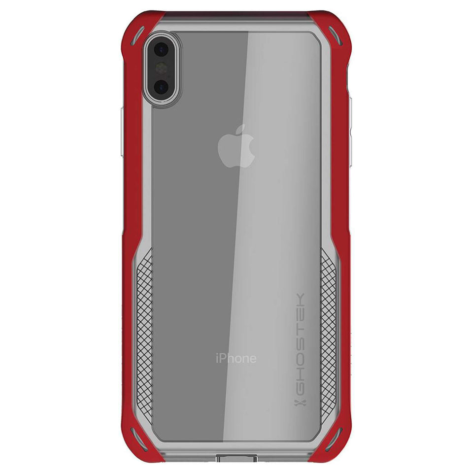 iPhone XS Max Clear Red Case