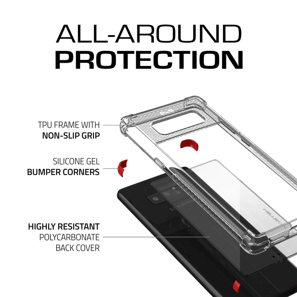 Galaxy Note 8 Clear Red Case