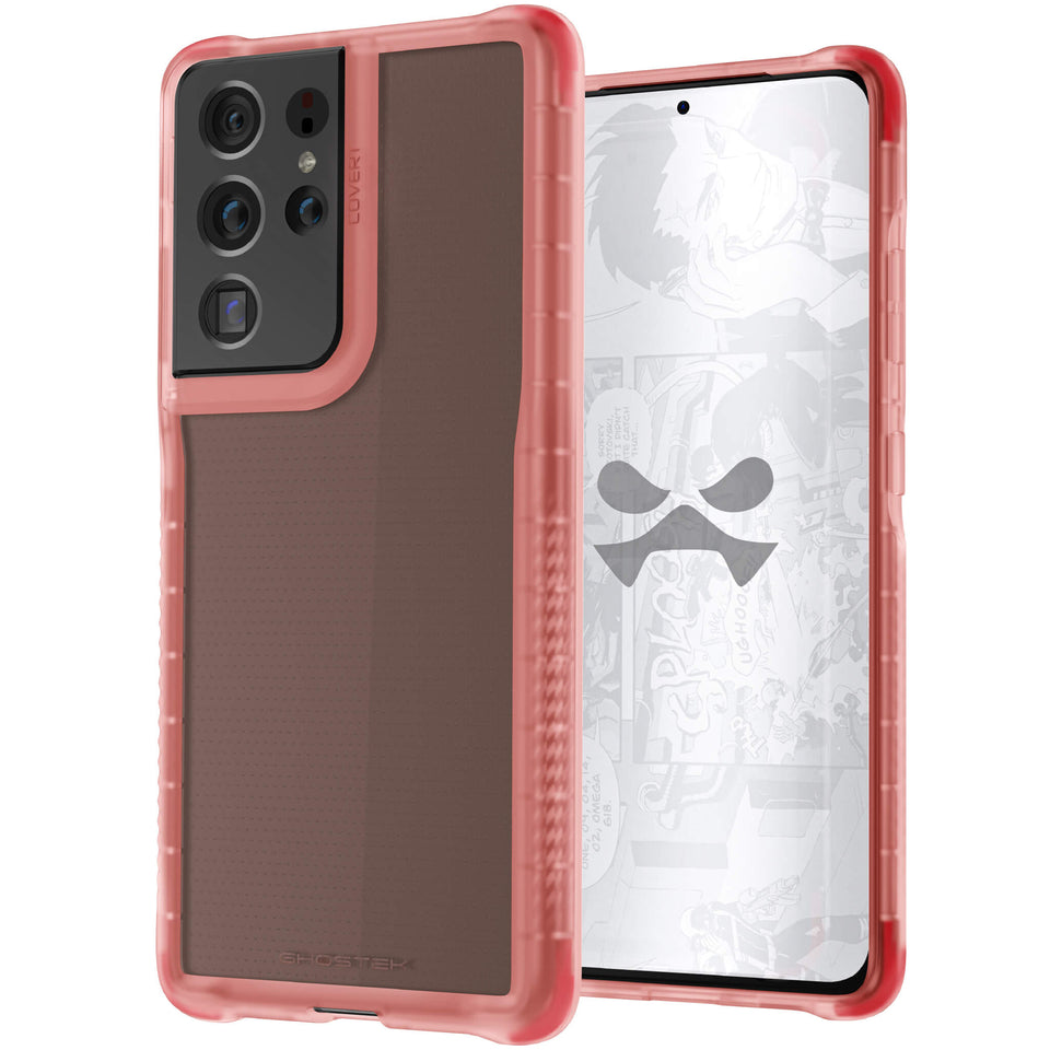 S21 Ultra Pink Protective Phone Cases