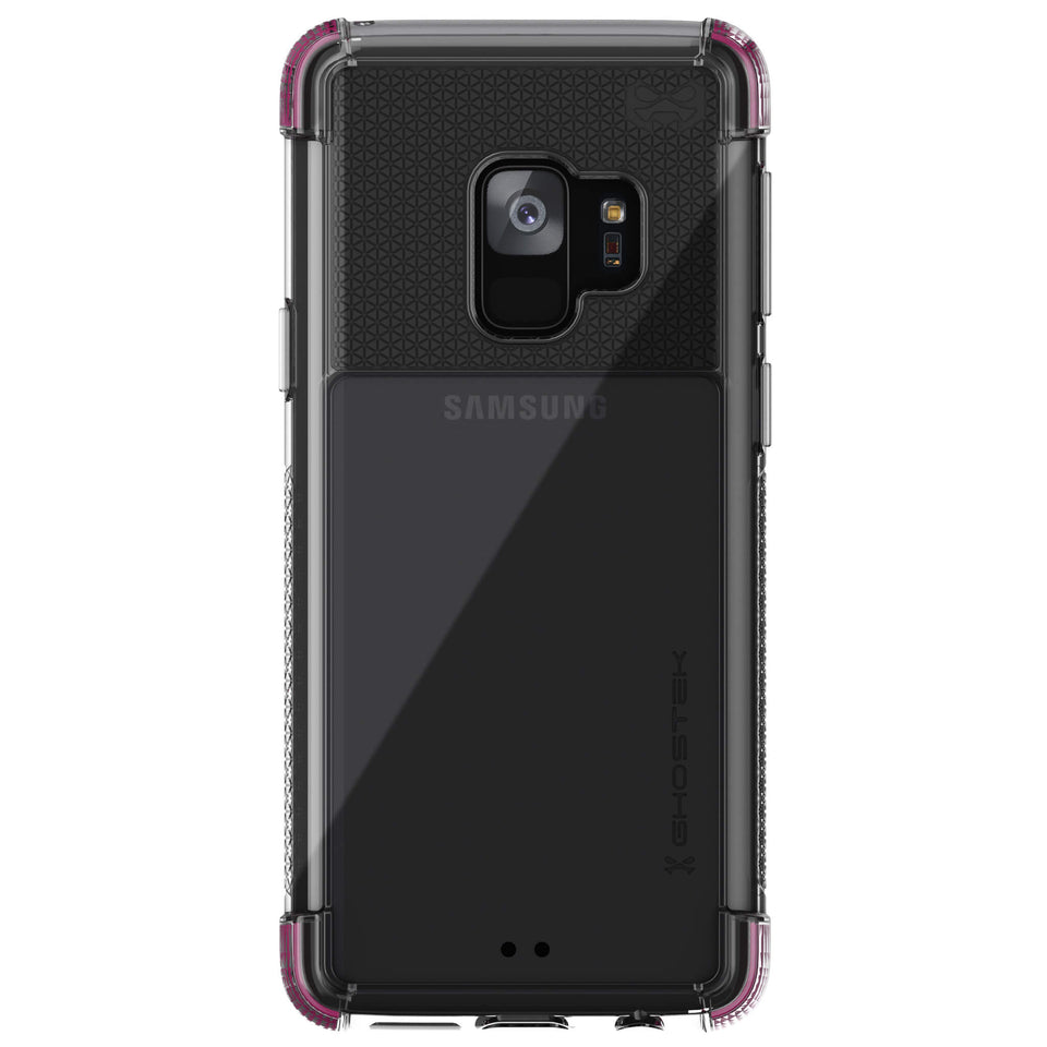Galaxy S9 Clear Pink Case