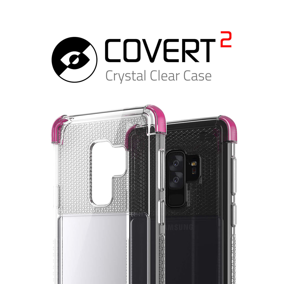 Galaxy S9 Plus Clear Pink Case
