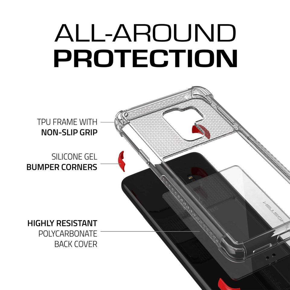 Galaxy S9 Plus Clear Red Case