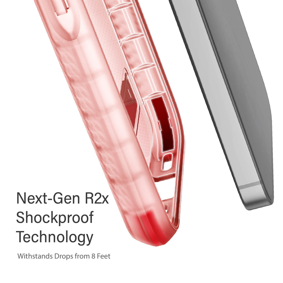 iPhone 12 Pro Max Clear Pink Cases