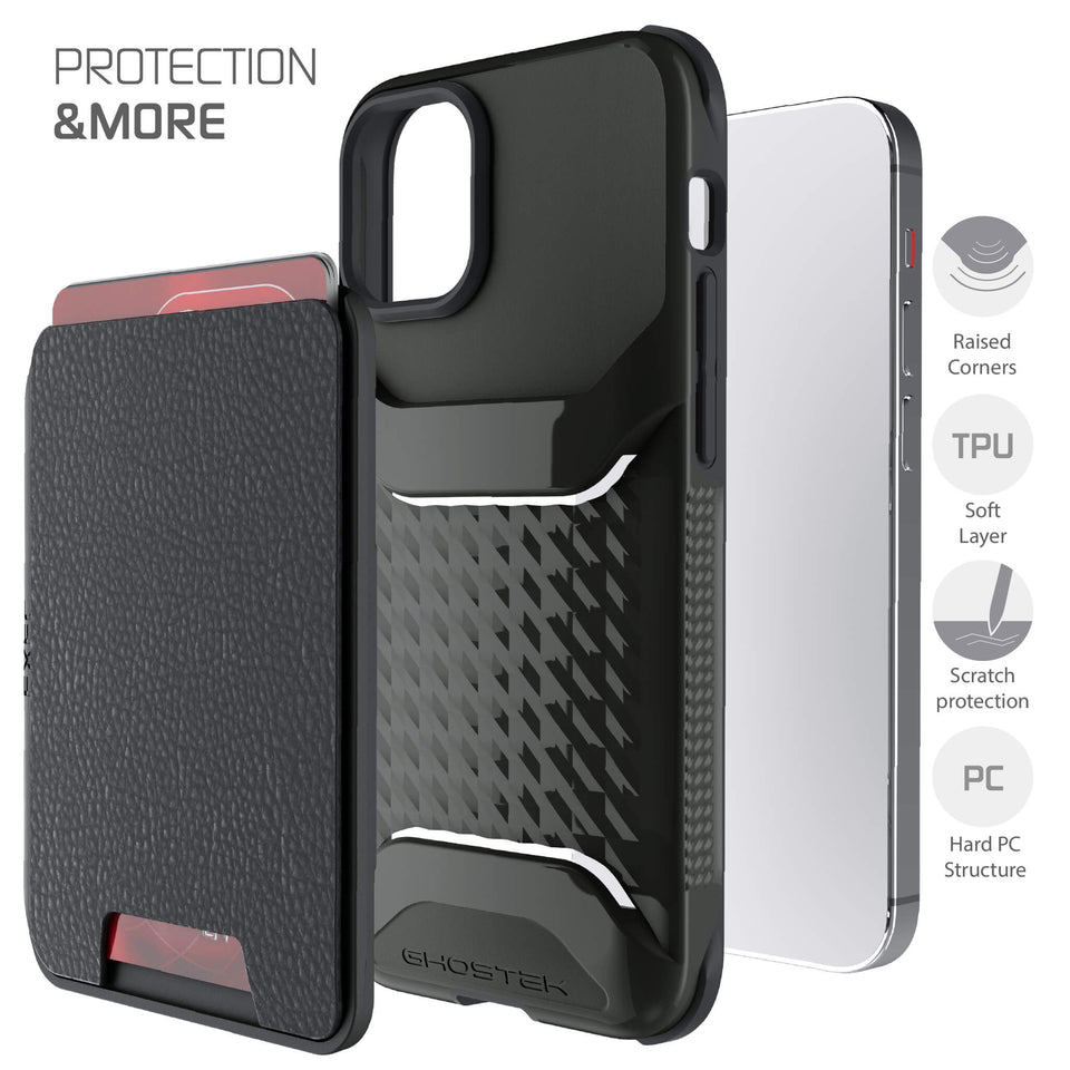 iPhone 12 mini Black Magnetic Wallet