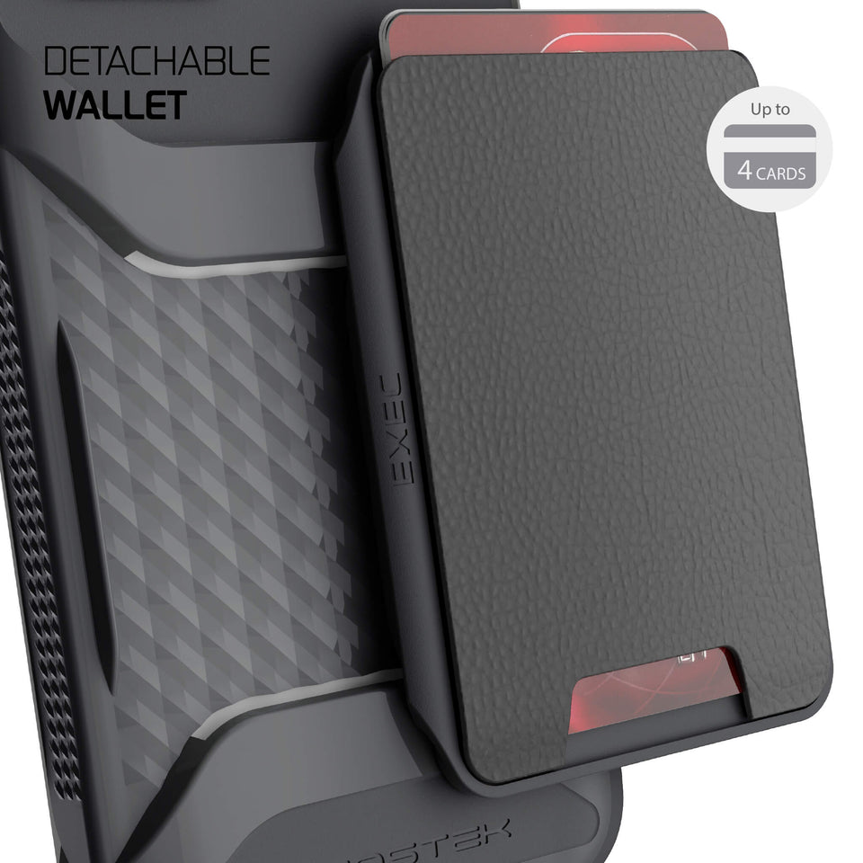 iPhone 12 Black Magnetic Wallet Card Holder