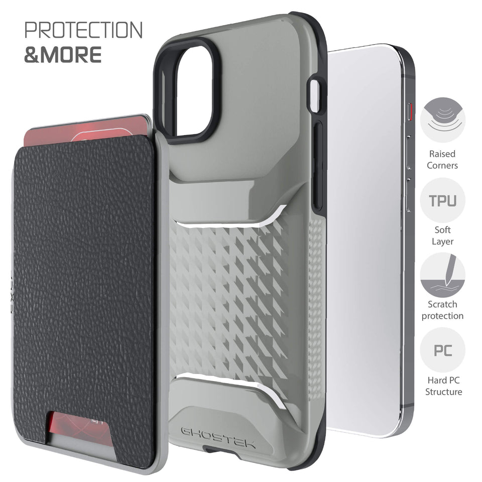 iPhone 12 mini Gray Magnetic Wallet