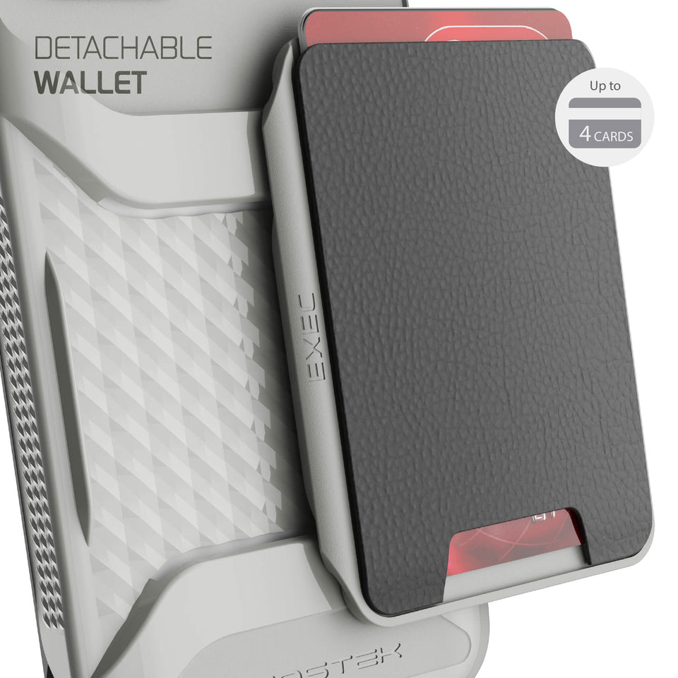 iPhone 12 Gray Magnetic Wallet Card Holder