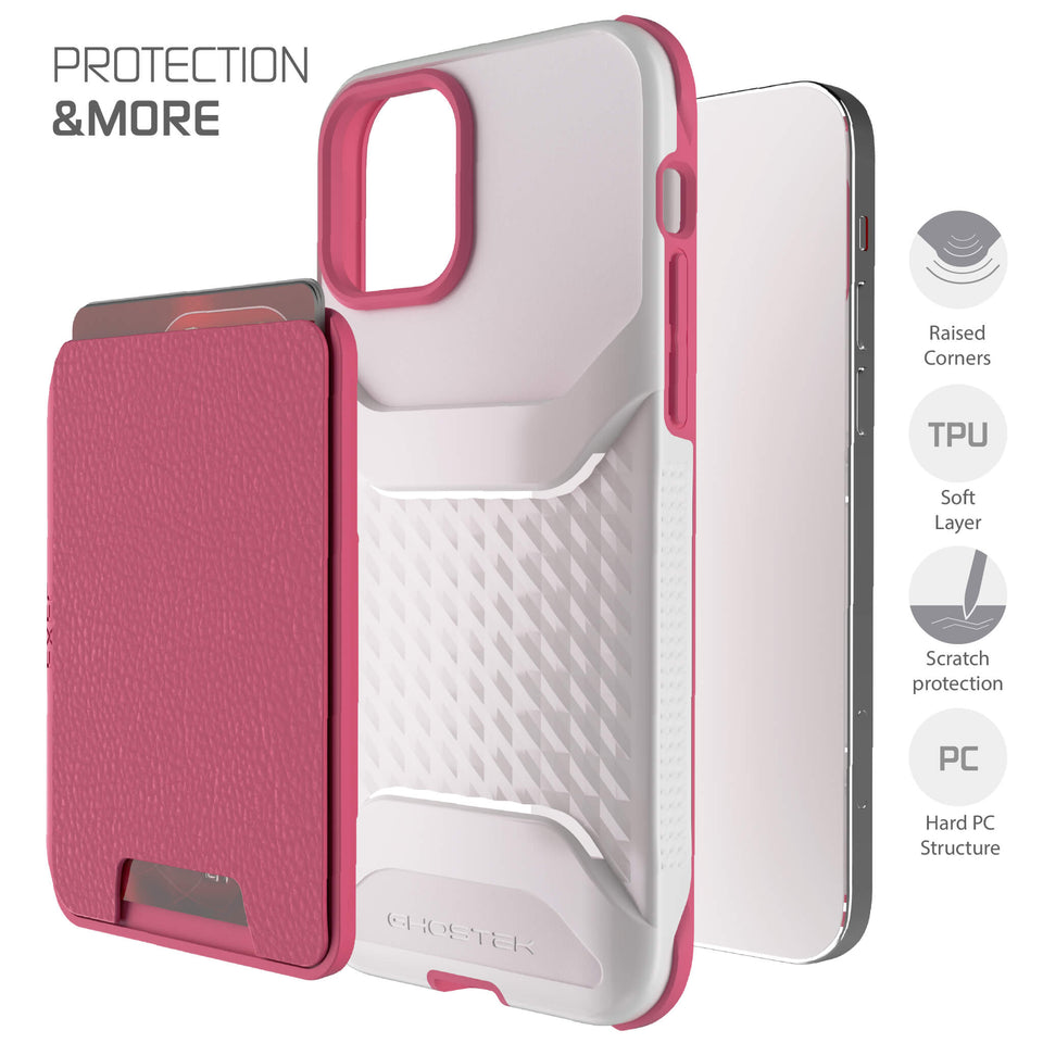 iPhone 12 Pink Magnetic Wallet for Women