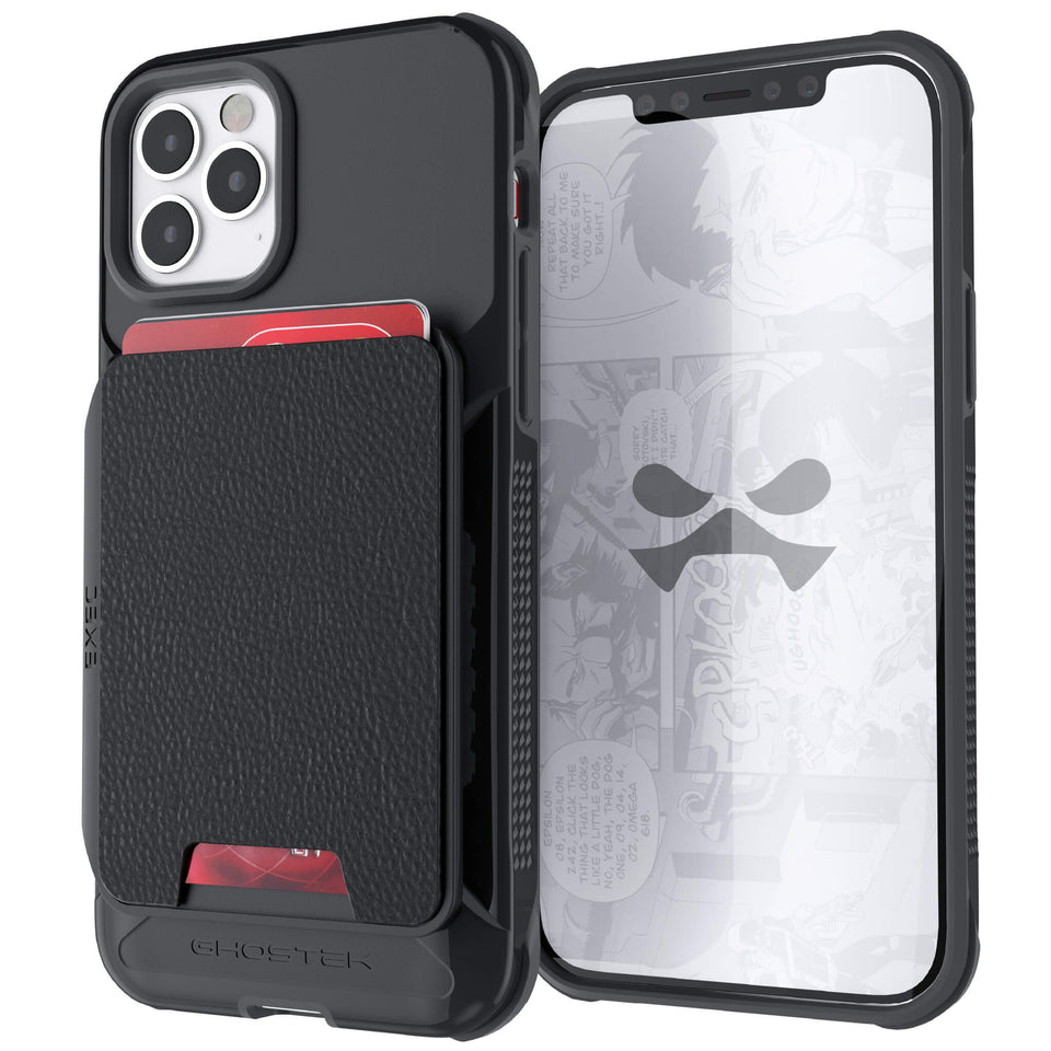 iPhone 12 Pro Black Magnetic Wallet Case