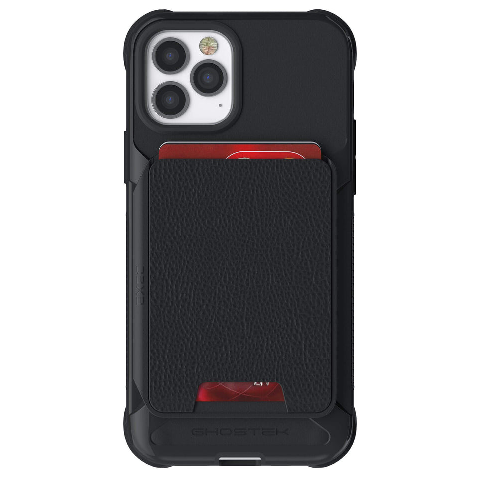 iPhone 12 Pro Black Magnetic Wallet Cases