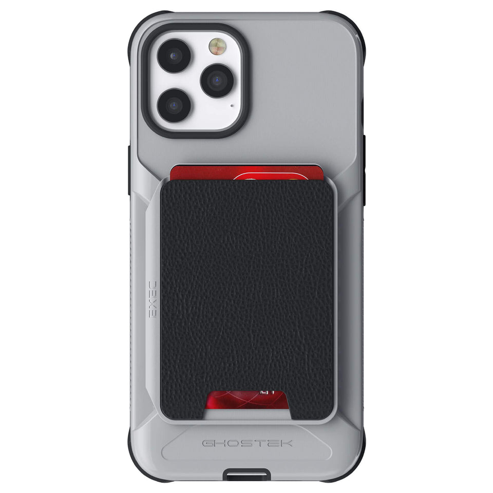 iPhone 12 Pro Max Gray Magnetic Wallet Case