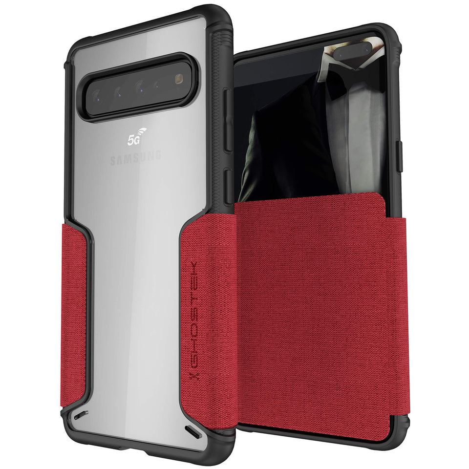 Galaxy S10 5G Red Wallet Case