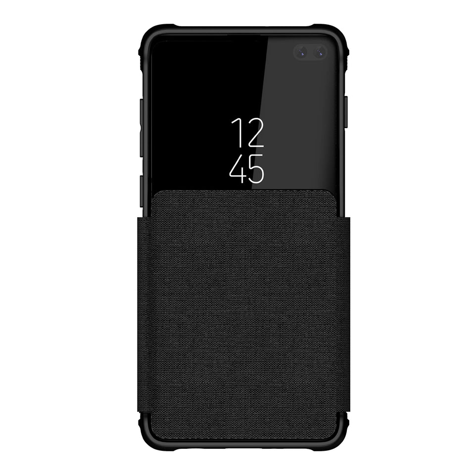 Galaxy S10 Plus Black Wallet Case