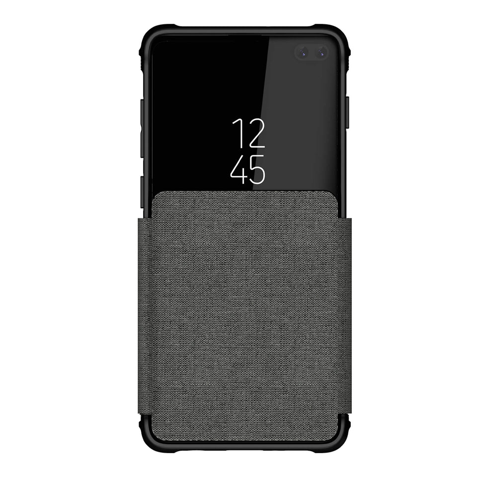 Galaxy S10 Plus Gray Wallet Case