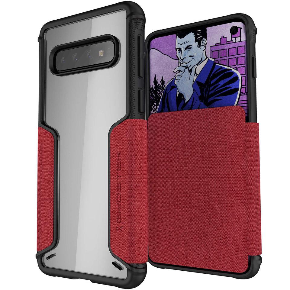 Galaxy S10 Plus Red Wallet Case