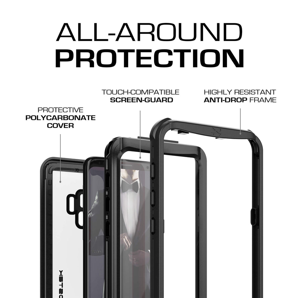 Galaxy S9 Black Waterproof Case