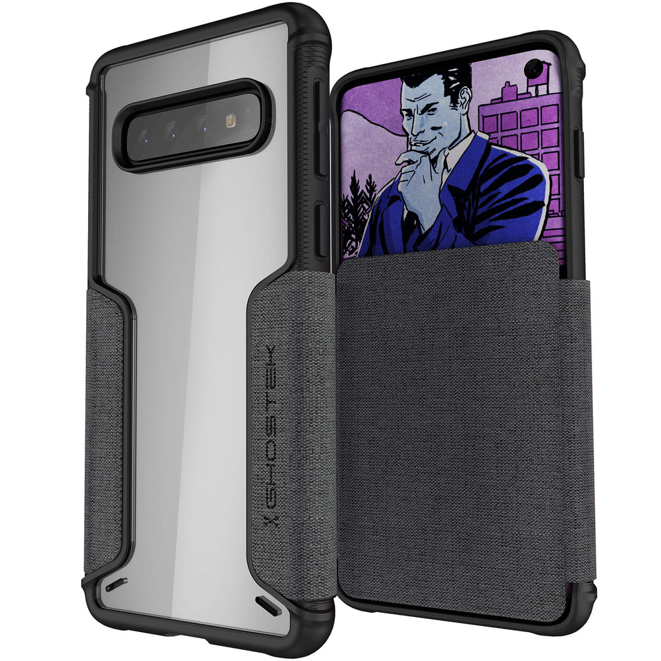 Galaxy S10 Gray Wallet Case