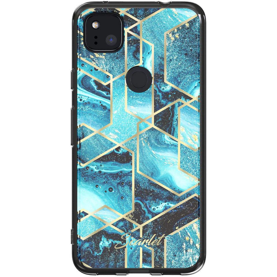 Google Pixel 4a Case — SCARLET WAVES