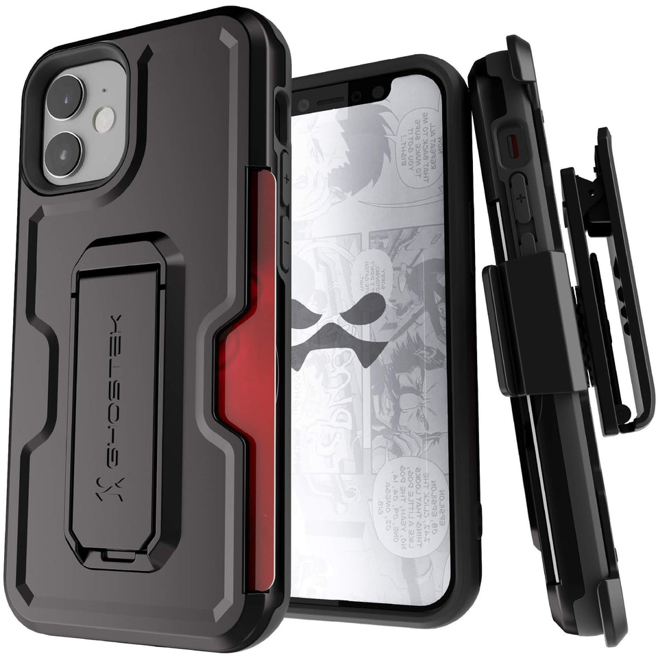 iPhone 12 Mini Black Holster Phone Cases