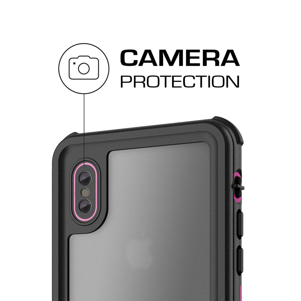 iPhone X Pink Waterproof Case