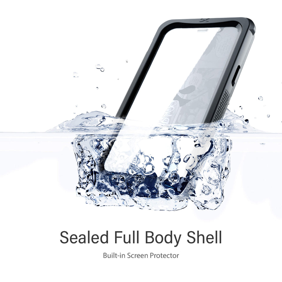 Clear iPhone 12 Pro Waterproof Cases Heavy Duty Protection