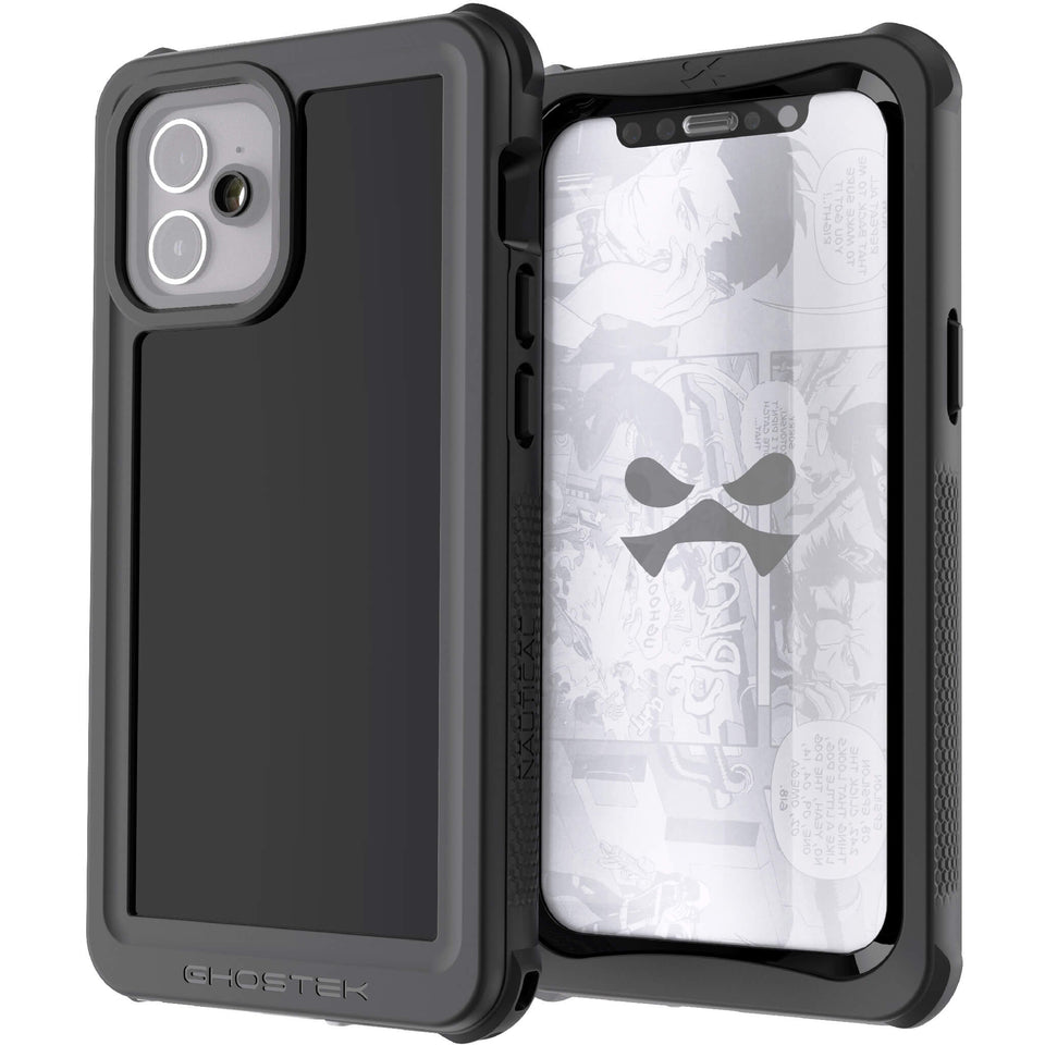 Black iPhone 12 Waterproof Cases