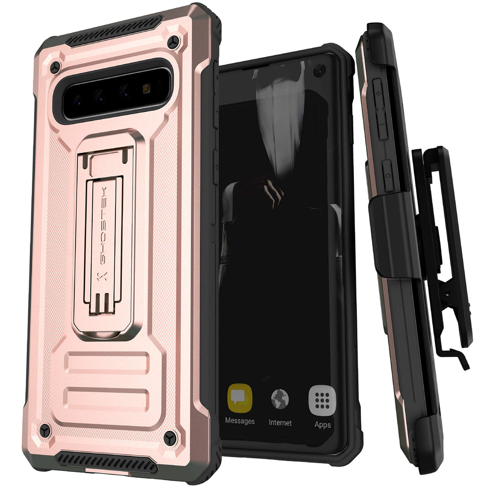 Galaxy S10 Pink Belt Clip Case