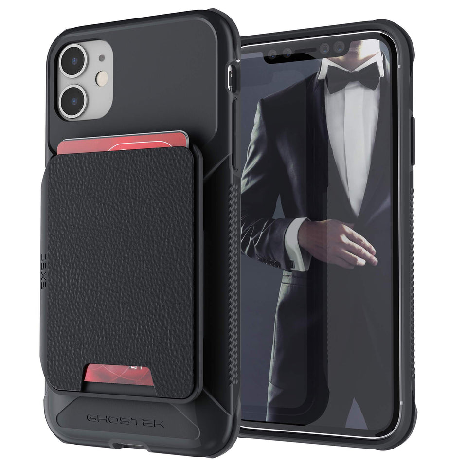 iPhone 11 Black Leather Wallet Case