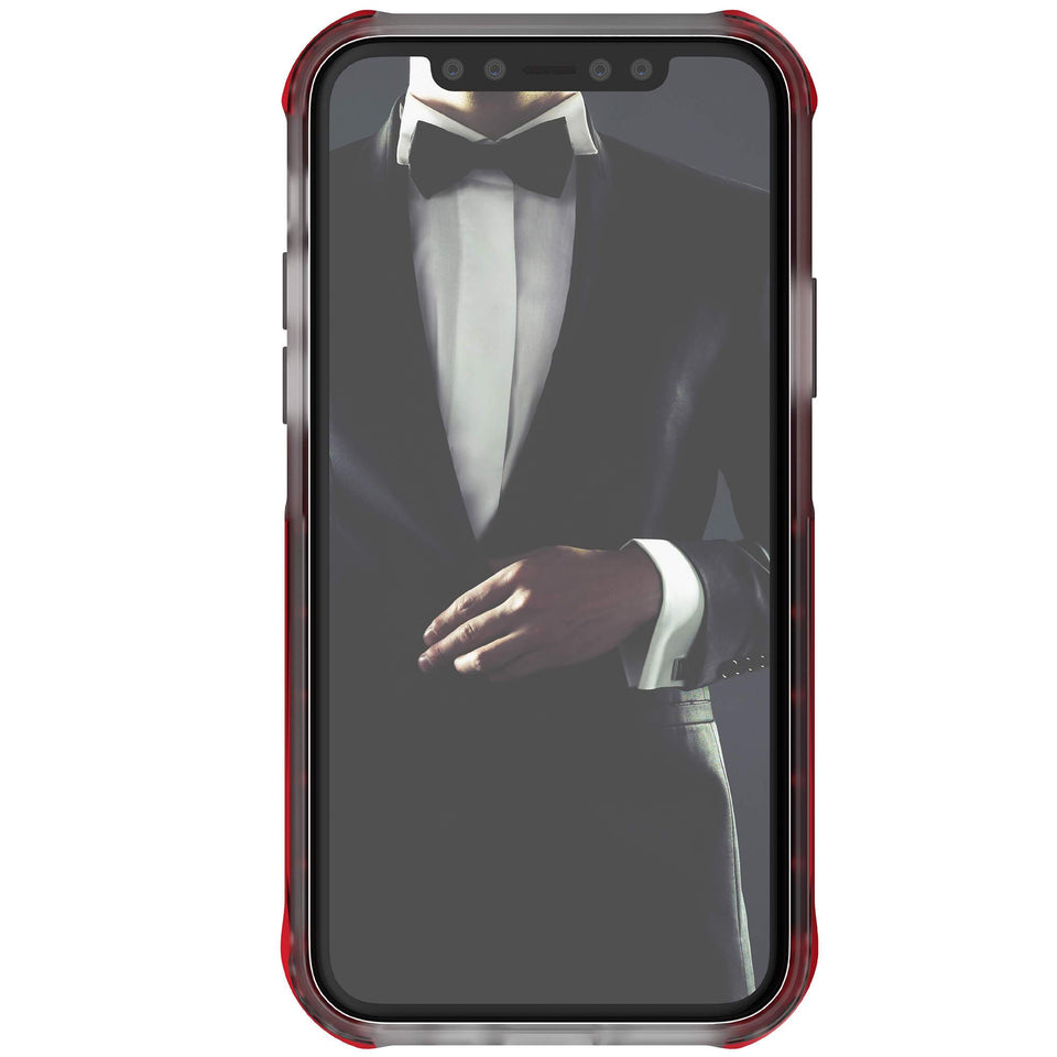 iPhone 11 Pro Max Clear Red Phone Case