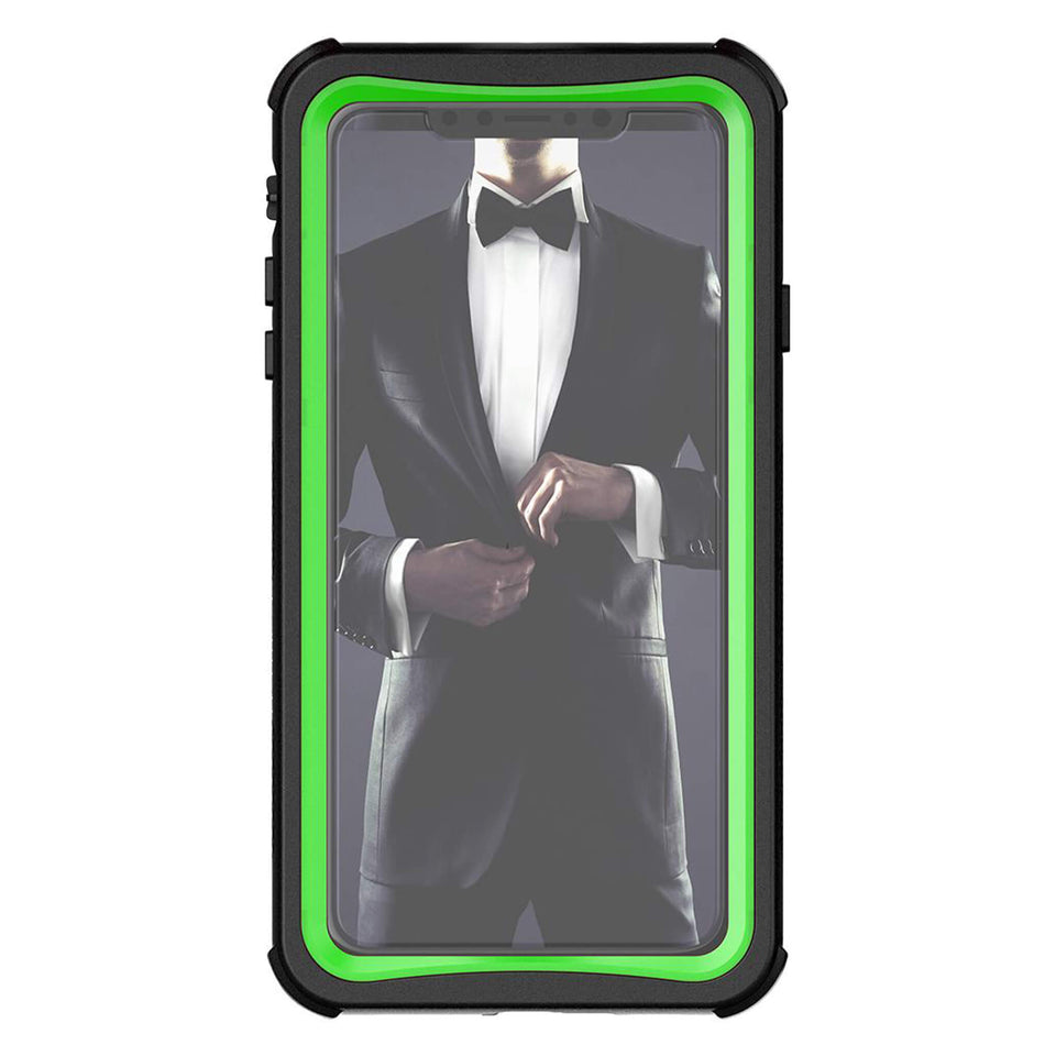 iPhone XS Max Green Waterproof Case