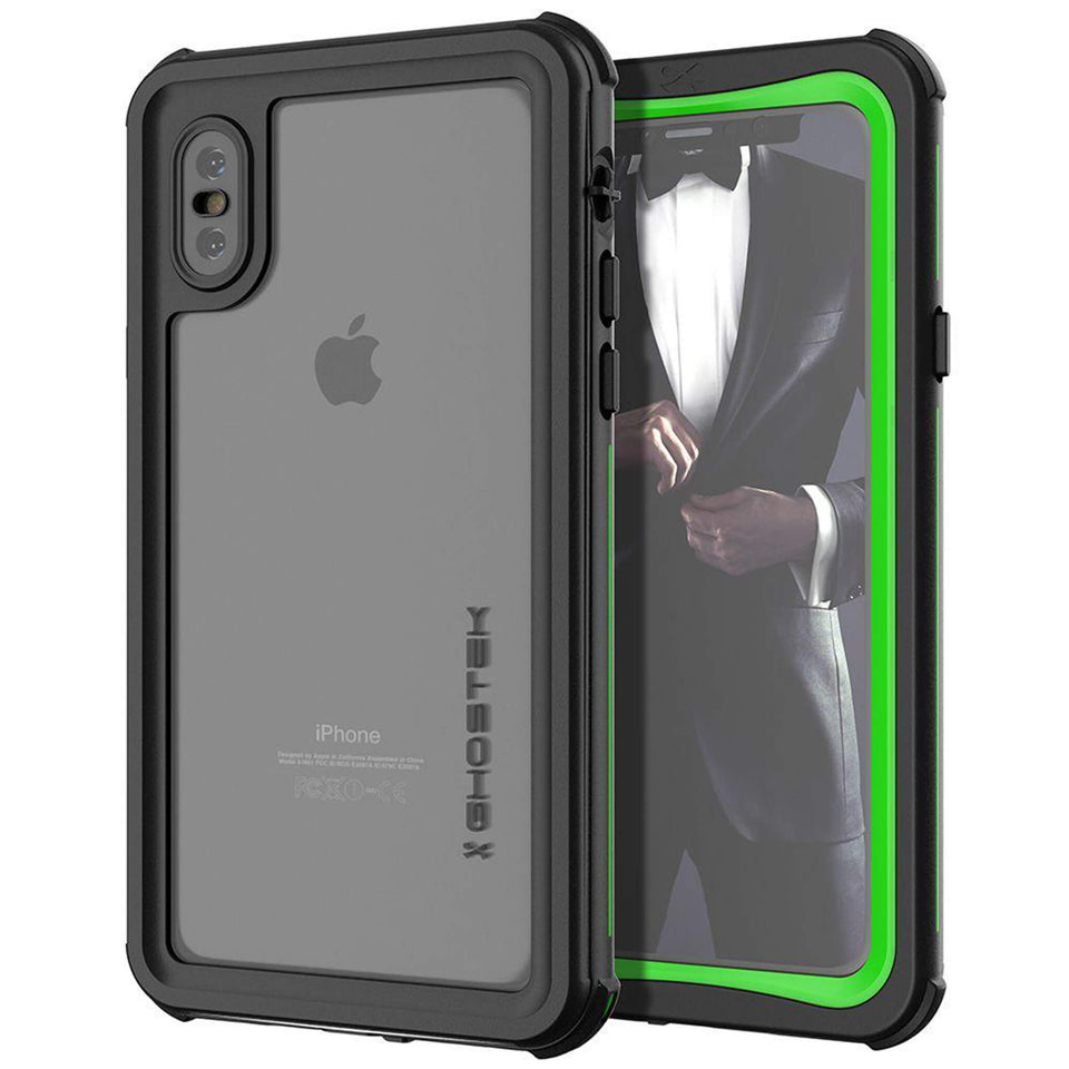 iPhone XS Green Waterproof Case