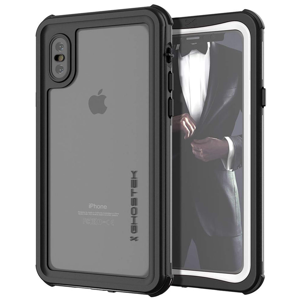 iPhone XS White Waterproof Case