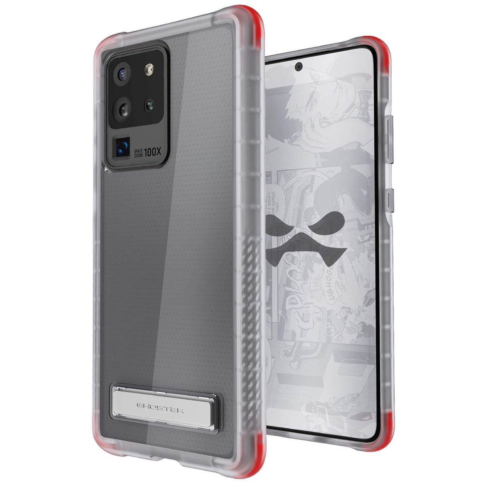 Galaxy S20 Ultra Clear Kickstand Case