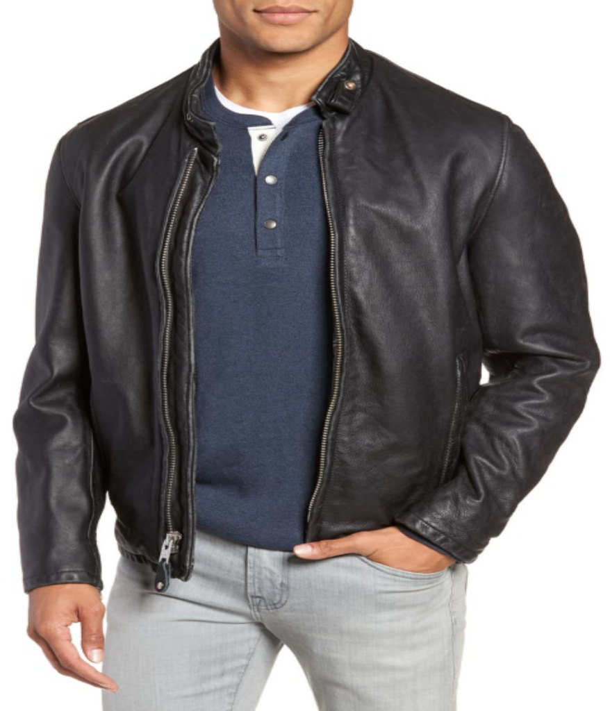 Café Leather Jacket