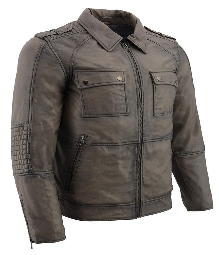 Anthracite Lambskin Leather Jacket