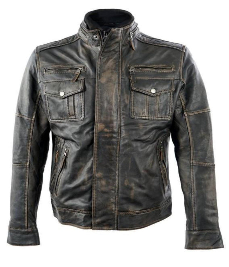 Motorcycle Retro Leather jacket