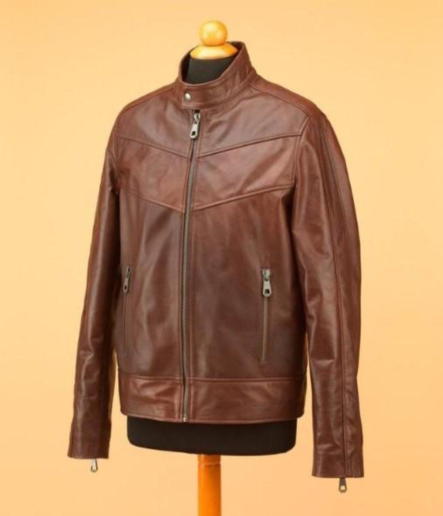 Wilson's Brown men leather jacket