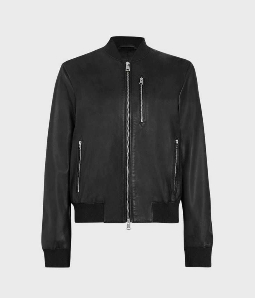 Remy Leather Bomber Jacket
