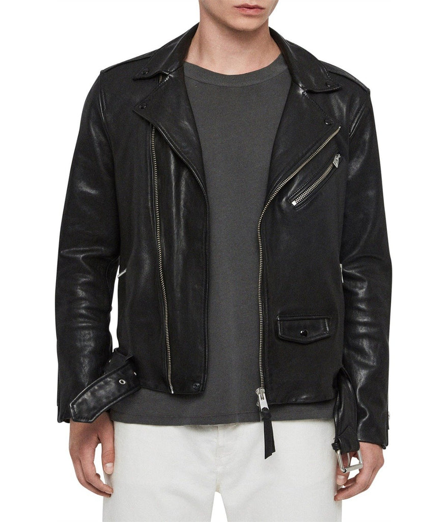 ROUNDHOUSE BIKER LEATHER JACKET