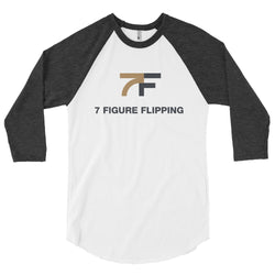 White 7 Figure Flipping Raglan