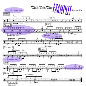 Electric Six - Gay Bar (Drum Sheet Music)