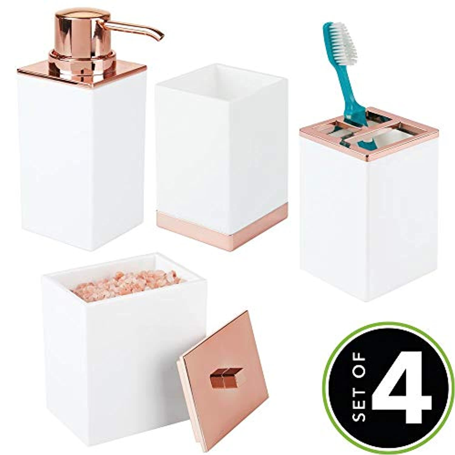 4pc Vanity Countertop Accessory Set
