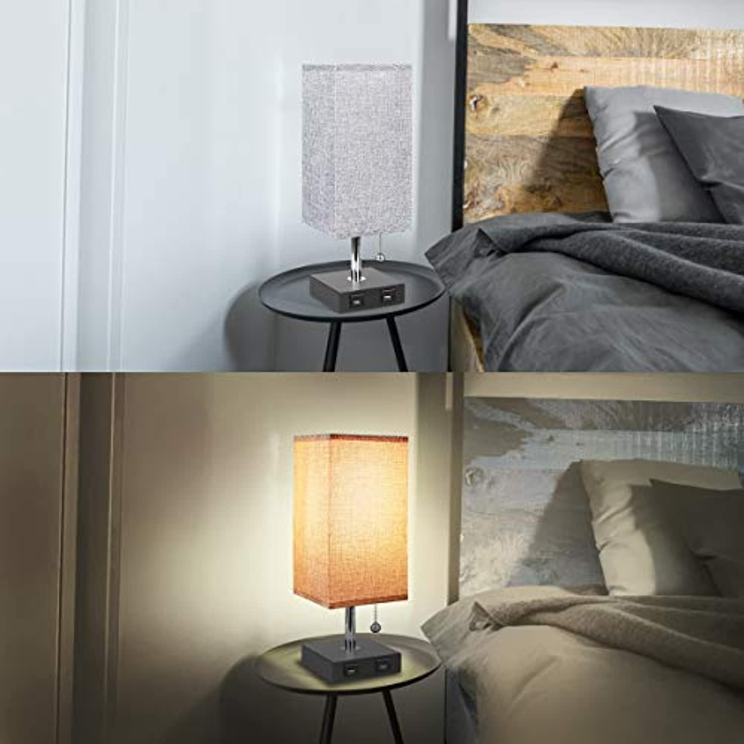 Modern Nightstand Lamp With Usb