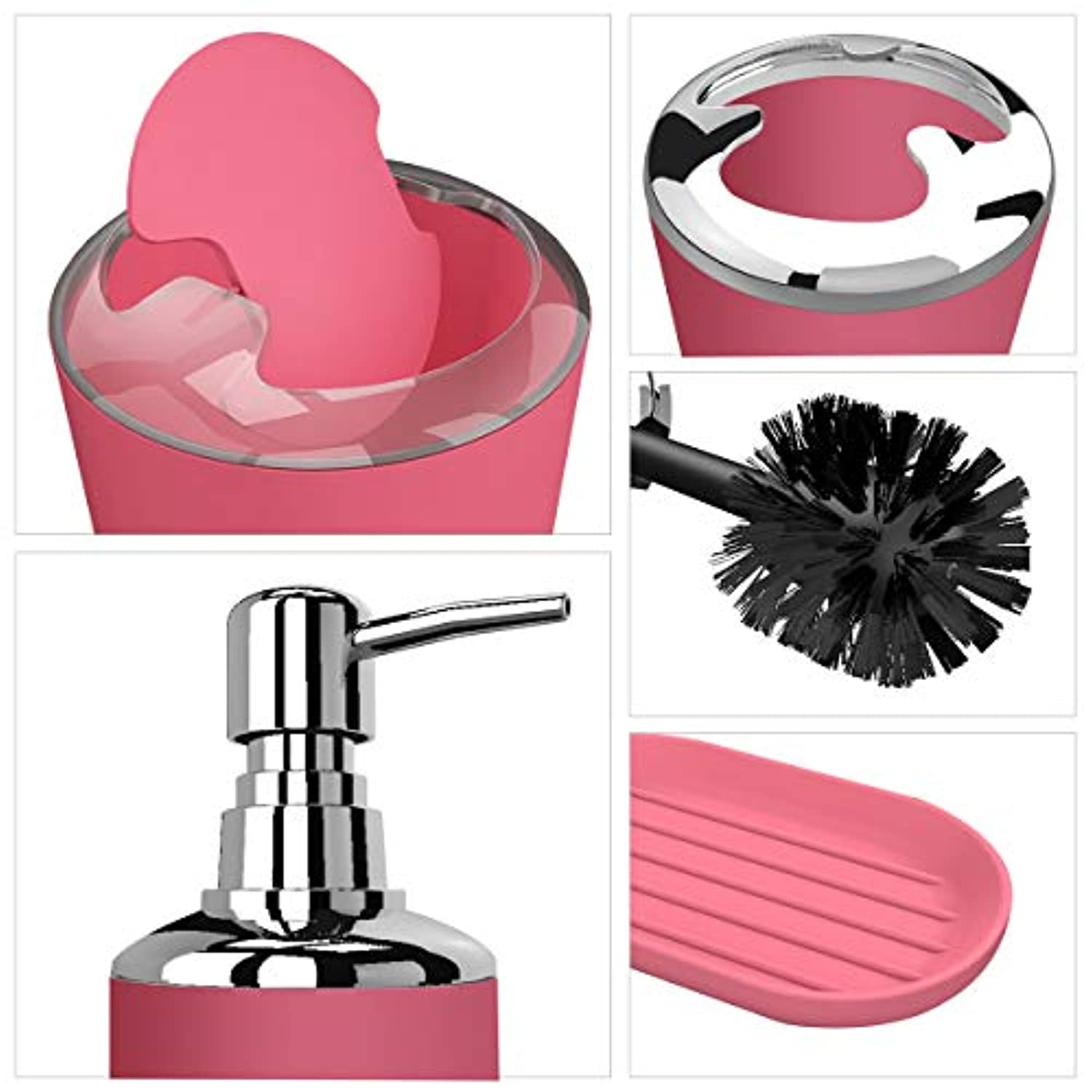 6pc Bathroom Accessories Set (4 colors)