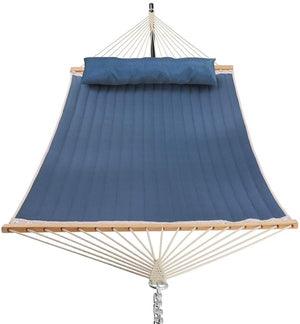 Open image in slideshow, 11 Feet Quilted Fabric Hammock with Pillow