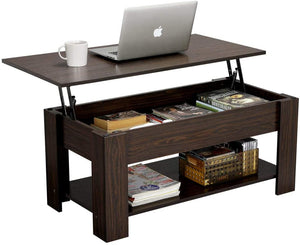 Open image in slideshow, Rustic Lift Top Coffee Table + Compartment & Storage Space
