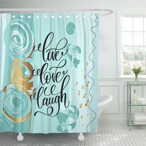 Open image in slideshow, Live Love Laugh Lettering Shower Curtain